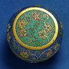 A cloisonné enamel box and cover